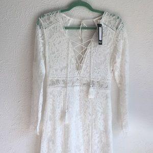 NastyGal White Lace Dress